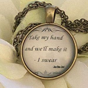Jewelry - 3/$25 JonBonJovi Take My Hand We Will  Necklace